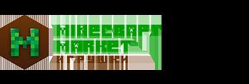 Логотип магазина minecraft market